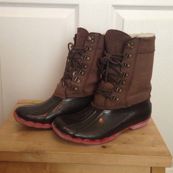 51ff21ca4b26a J. Crew Boots - Sperry Top-Sider x J. Crew winter shearwater boots