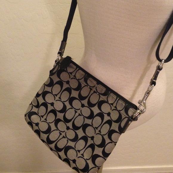 coach black and gray purse vlf2  Coach Bags