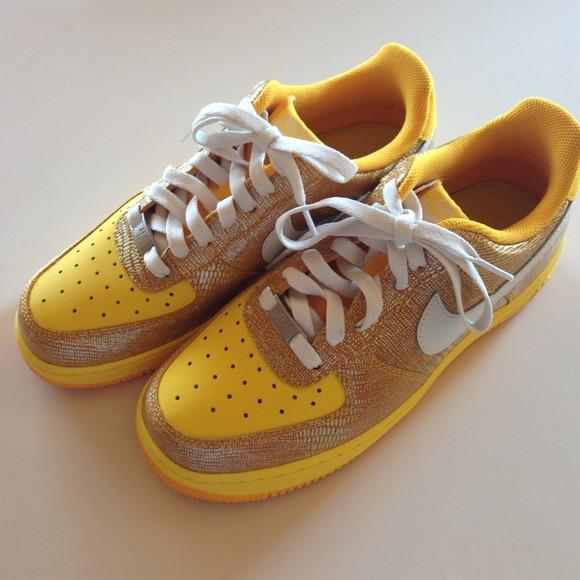check out 30141 2d569 Nike Air Force 1 Del Sol Swan Gold Lizard 8.5. M52925b1d4845e6265d04610a