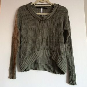 Open knit slouchy sweater