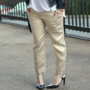 Gold metallic pants