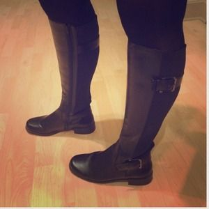 Boots - Black tall boots (reserved)