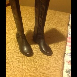 Boots - Black leather riding boots