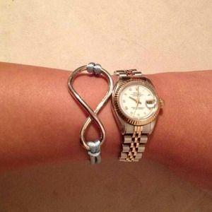 NEW 925 STERLING SILVER Infinity Bracelet