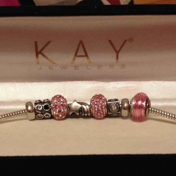 KAY JEWELERS CHARMED MEMORIES BRACELET STERLING SILVER ASSORTED SIZES AVAILABLE