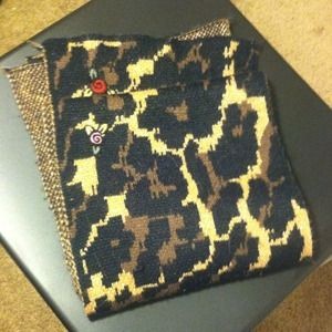 Betsey Johnson Leopard/Floral Scarf