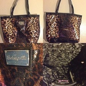 Betsey Johnson Handbags - Betsey Johnson Betseyville Metallic Cheetah Purse