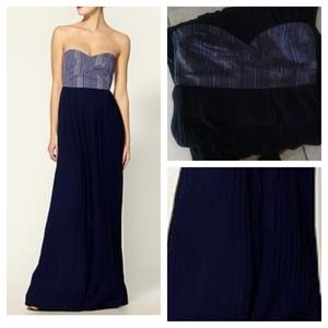 Sabine long blue dress
