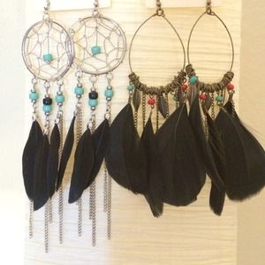❤️Two Pair Beautiful Beaded Earrings