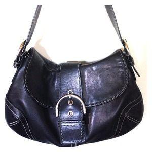 Gorgeous black leather Coach