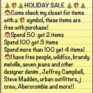 BOGO sale, bundle discounts, free items, cheap!