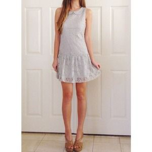 LAST ONE!  NWOT! Silver lace dress