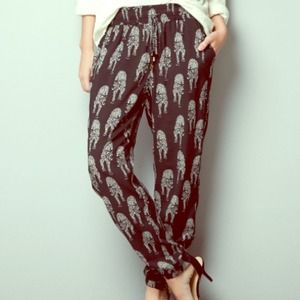 Zara Pants - ❌SOLD IN BUNDLE❌Cat Print Drawstring Pants