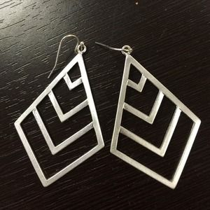 Jewelry - Chevron statement earrings