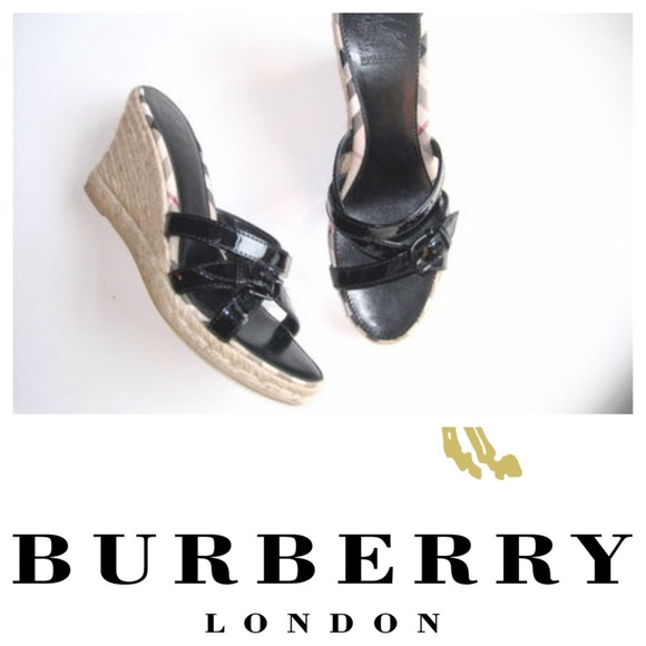 Burberry Patent Espadrille Sandals outlet shop offer ucHY0