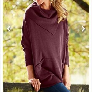 Sweaters - 🎀HOLIDAY HOST PICK!!!  🎀 Wine Fold Over Sweater