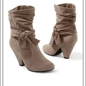 Boots - Knotted slouchy boots