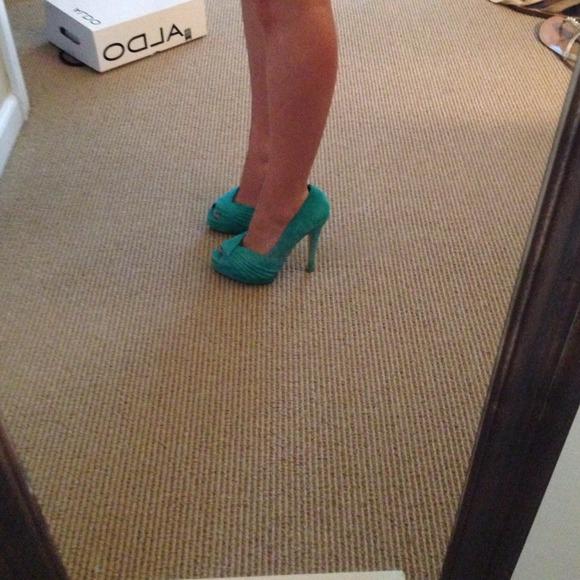 ALDO Shoes - Turquoise heels