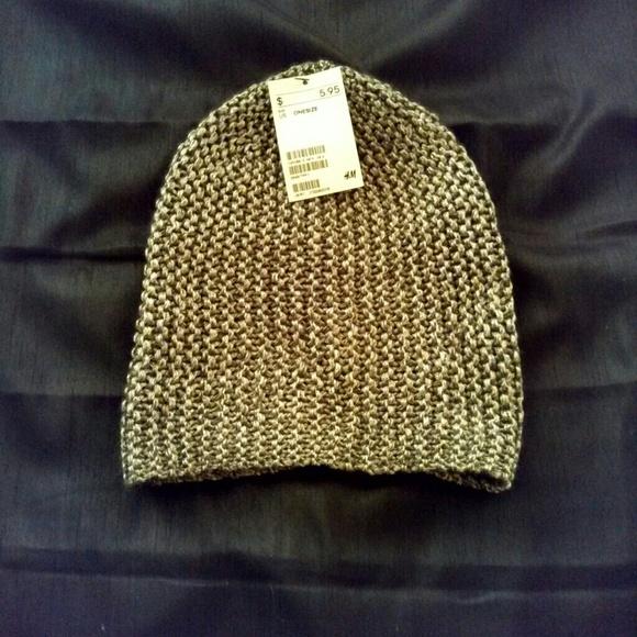 Metallic knit beanie hat 0aa9403bd07