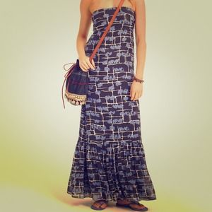 PM Editor Pick! Blue Silk Elephant Maxi Dress