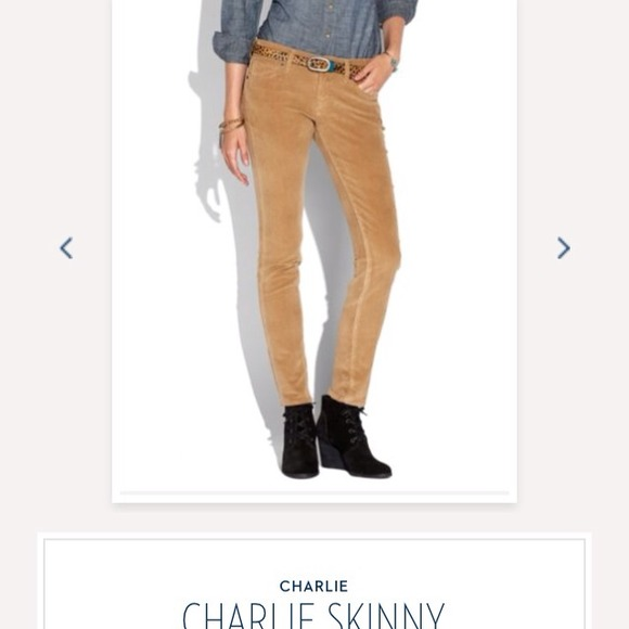 50% off Lucky Brand Pants - Lucky Brand Charlie Skinny Camel ...