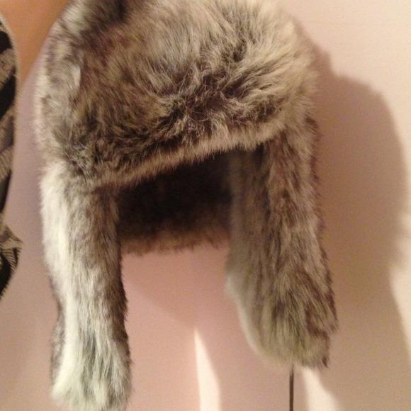 61bfa3cabab Cejon Grey Faux Fur Hat