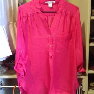Ellison Hot Pink Tunic/Blouse
