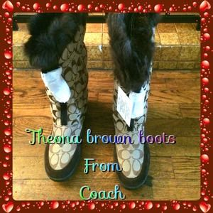 👢👢NWT Coach Theona signature Brown Boots 7.5👢👢
