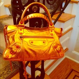 Balenciaga Twiggy Bag in Metallic Orange