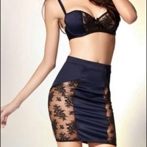 Dresses & Skirts - Lace Skirt and Crop Top Set
