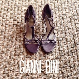 Gianni Bini Shoes - Gianni Bini Bronze Metallic Leather Heels 10 NWOT