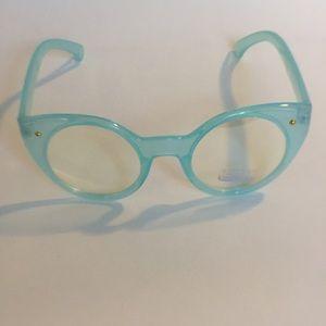 Baby blue fashion eyeglasses