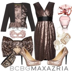 BCBG Black Lace Bow Clutch