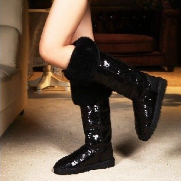 2bf9189bb20 Over the knee sparkle black uggs FOR MISSASHLIN17.  M 52955eac40dc4f05a7003f6c