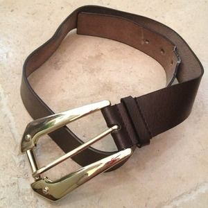 Michael kors brown belt with large buckle