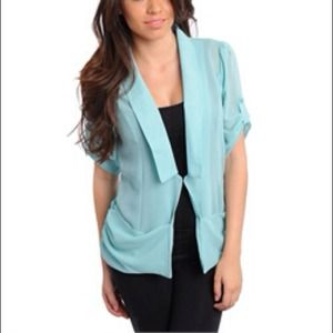 Mint colored stylish top