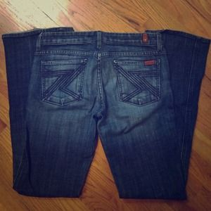 7 For All Mankind flare jeans size 29