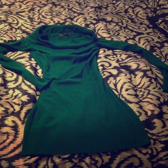 Zara Dresses Sweater Dress Hunter Green Poshmark