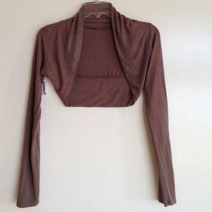 Tops - Bolero style shrug with metal details