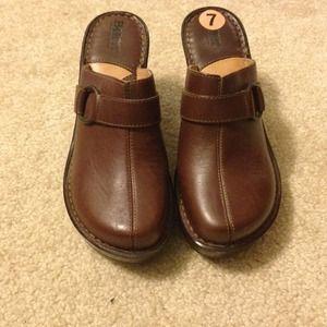 Brown Born Clogs