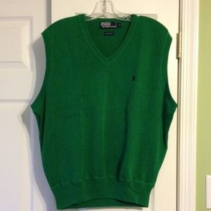 Men's Polo Ralph Lauren Kelly Green Sweater Vest