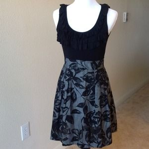Nordstrom BP Dresses & Skirts - BUNDLED Black ruffle & floral dress, Jrs. SMALL