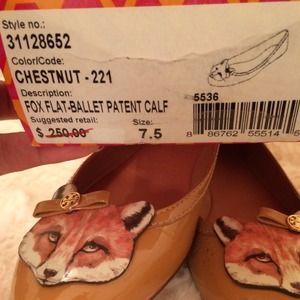 602a3af9ac4 Tory Burch Shoes - 🎉HOST PICK🎉 Adorable Tory Burch Fox Ballet Flats