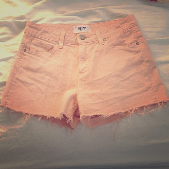 Paige Jeans Jeans - Paige High Waisted Peach Shorts!