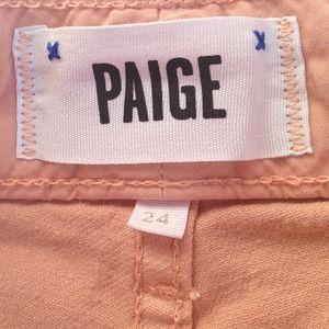 PAIGE Jeans - Paige High Waisted Peach Shorts!