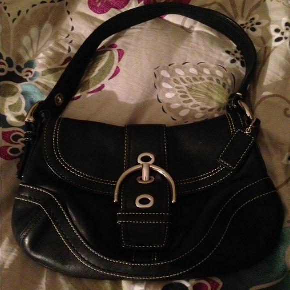 80 off coach handbags small black leather coach purse
