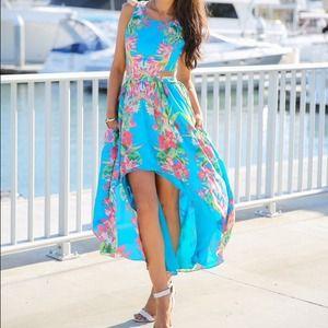 Dresses & Skirts - Tropical maxi dress - small - brand new