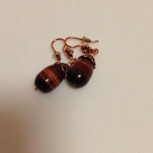 Jewelry - Tigers eye earrings