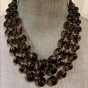 Triple layered round beaded necklace NEW