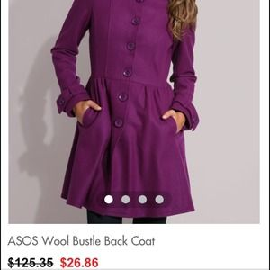 ISO Asos bustle back wool coat